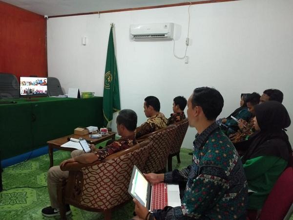 Melalui Teleconference, Pengadilan Agama Kuala Kurun Ikuti Bimbingan Pengawasan Penerapan 9 Aplikasi